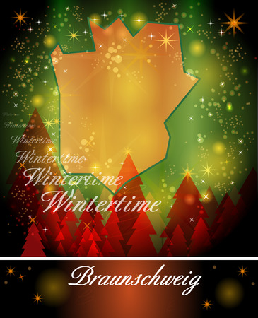 christmassy: Map of Braunschweig in Christmas Design