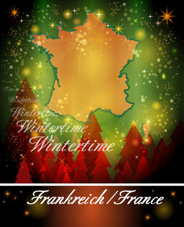 christmassy: Map of France in Christmas Design