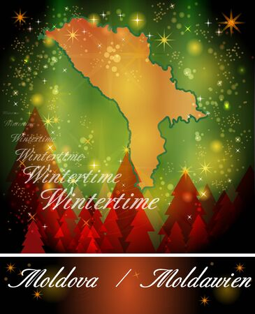 bender: Map of moldavia in Christmas Design