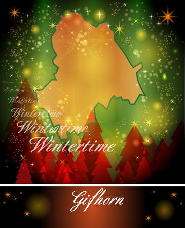 christmassy: Map of Gifhorn in Christmas Design
