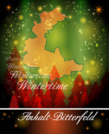 cosa: Map of Anhalt-Bitterfeld in Christmas Design