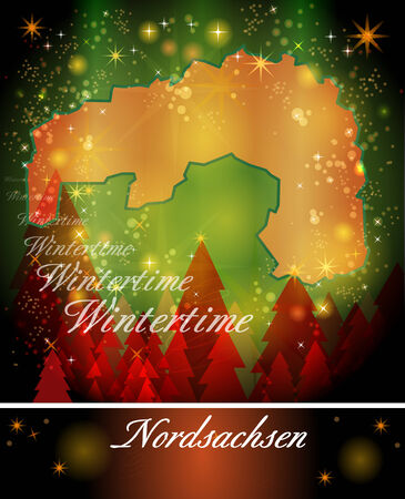 drainage: Map of Nordsachsen in Christmas Design