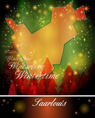 saarlouis: Mapa de Saarlouis en Dise�o de Navidad