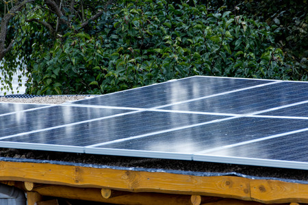 photovoltaic system Stockfoto