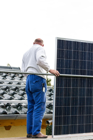 hook up: solar panel