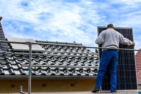 fotovoltaïsch systeem Stockfoto