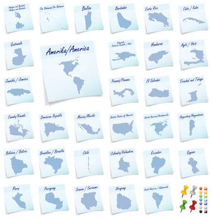 sticky note: Collage of America as sticky note