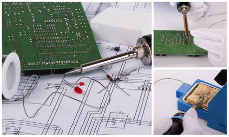 soldering: collage Soldering accessories