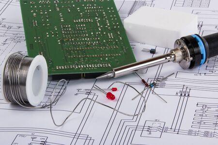 soldering: Soldering Equipment Stock Photo