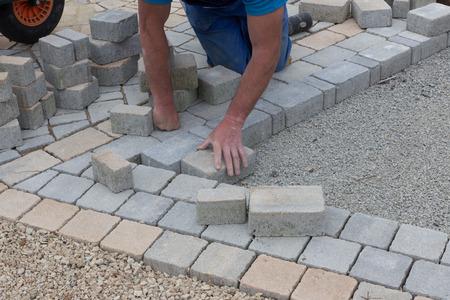 paving: paving work Stock Photo