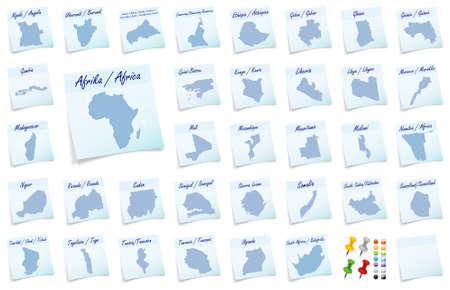 sticky note: Collage of Africa as sticky note