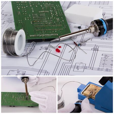 soldering: collage Soldering accessories