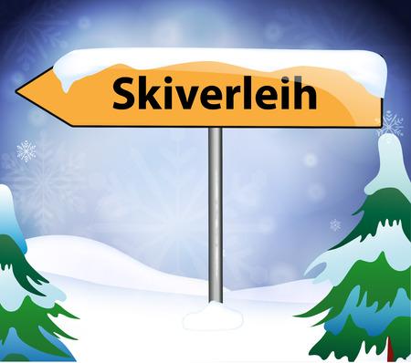 st  nicholas: Ski rental as a signpost