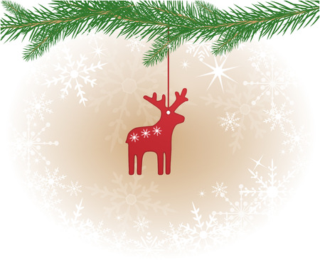 lighting fixtures: Christmas background with reindeer