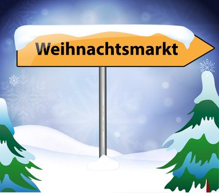 Weihnachtsmarkt Ortsschild