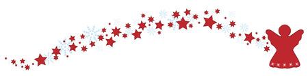 Engel met sterren en sneeuwvlokken