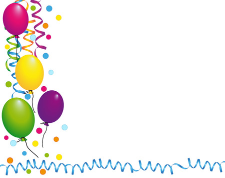 cheerfully: Background with colorful balloons