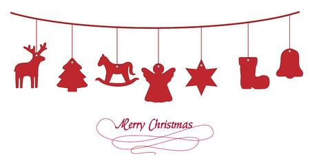 Kerst slinger Stock Illustratie