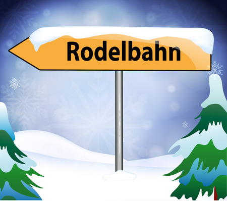 toboggan: Toboggan run as a place name sign