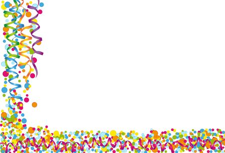 cheerfully: Background with colorful confetti and streamers