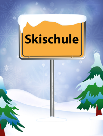 to place: Ski School as place name sign