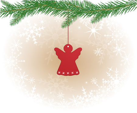 lighting fixtures: Christmas background with angel