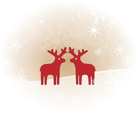 christmassy: Christmassy background with reindeer
