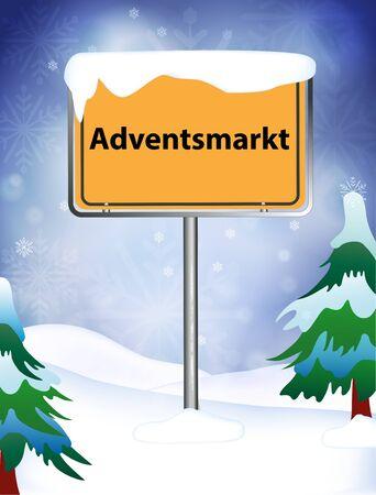 market place: Advent market place name sign