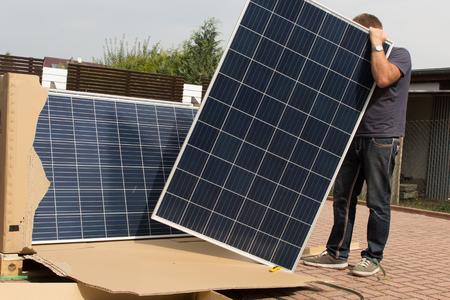 Panele słoneczne dla zielonej energii Zdjęcie Seryjne