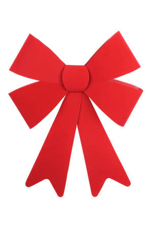 A big red Christmas Bow Isolated on a solid white background. photo
