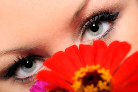 A concept photo closeup of a lovely woman with beautiful eyes.