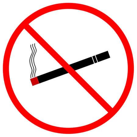 Un aviso gráfico que está prohibido fumar, aislado en un fondo blanco sólido Foto de archivo - 13612819