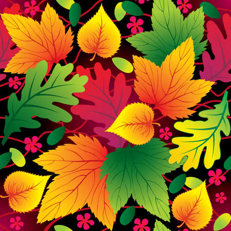 Autumn seamless background with leaf