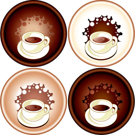 Set cup of coffee