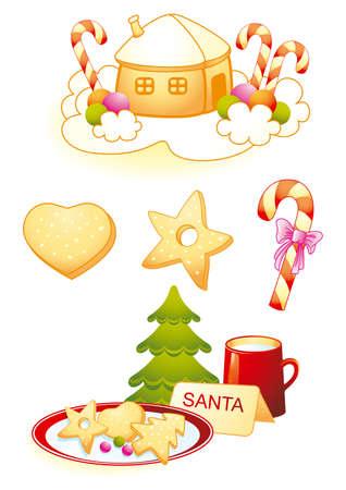 Santas cookies Vector