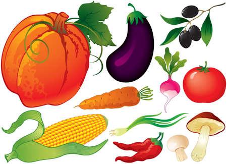 indian thanksgiving: Vegetable set