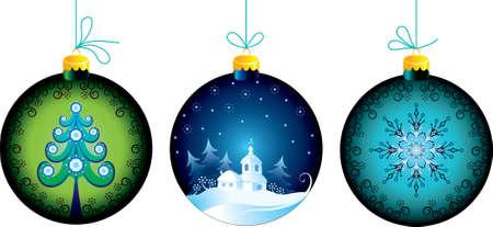 fir tree balls: Christmas balls