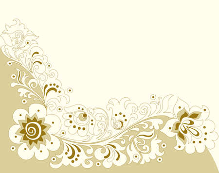 Old-fashioned floral background Vector