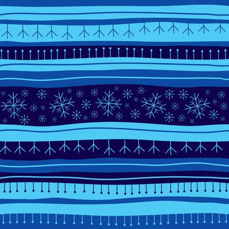 Blue Christmas seamless background