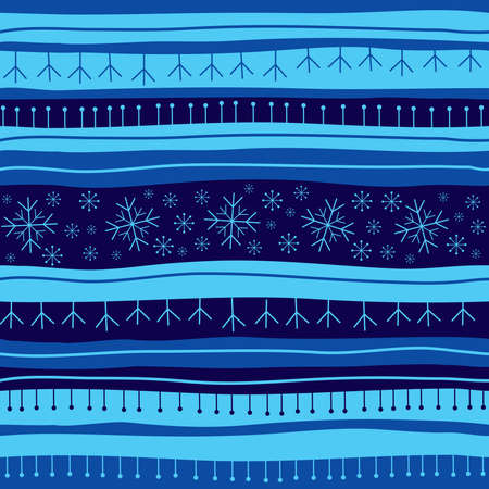 Blue Christmas seamless background Vector