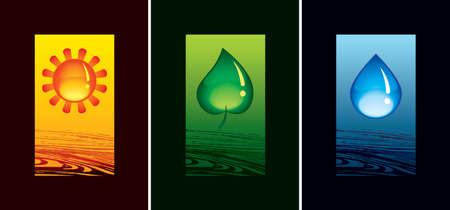soils: Simbolo del sole Natura, flora e acqua