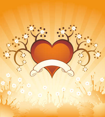 Grunge background with heart Stock Vector - 11917644