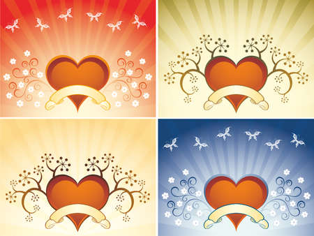 corazones: Valentine background with heart Illustration