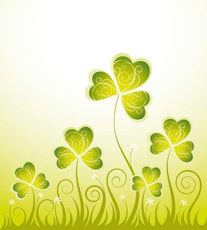 Patrick sfondo floreale con trifoglio Archivio Fotografico - 11917628