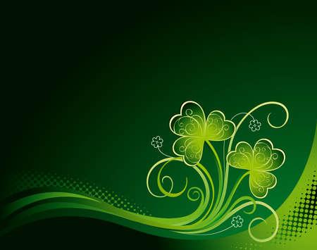 irland: Patrick floral background mit Kleeblatt