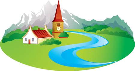 Rural de fondo, con finca en la montaña