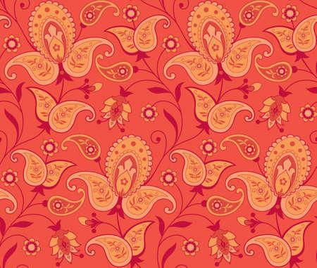 paisley pattern: Seamless ornate background