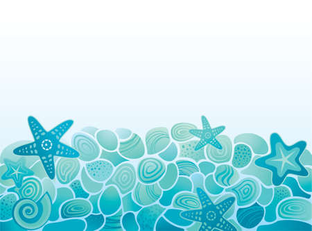 starfish on beach: Sea pattern background