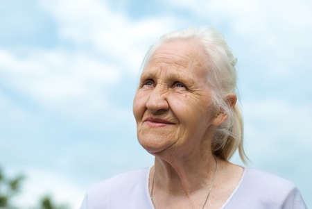Elderly happy woman