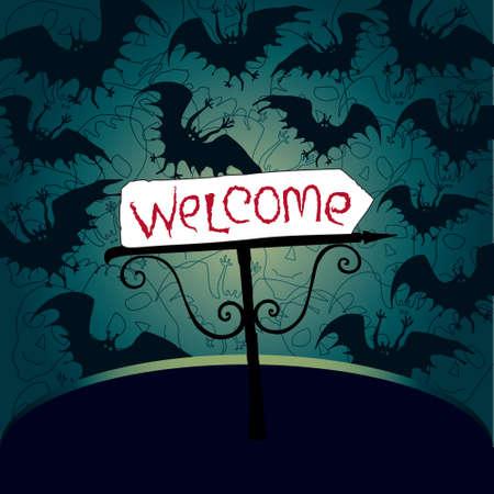 invitaci�n a fiesta: Fiesta de Halloween invitaci�n Vectores